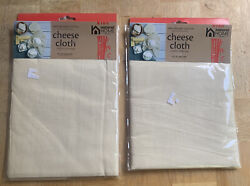 "Natural Home 100% Organic Cotton Cheesecloth 36"" X 36"" New In Sealed Package $8.00"