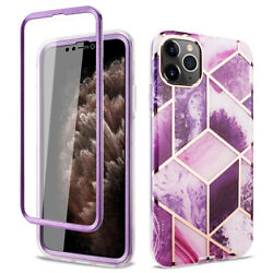 iPhone 12 12 Pro amp; 12 Pro Max Case Marble Design Cover W Built In Screen Cover $9.99