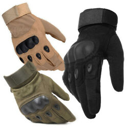 Tactical Gloves Hard Knuckle Full Finger Military Army Combat Hunting Shooting $11.98