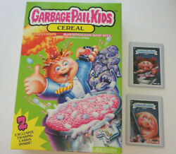 Garbage Pail Kids GPK Cereal Box w 2 Topps Cards 3f & 4f FYE Exclusive  $19.99