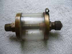 Look Rare Unmarked Brass Oiler Essex  for Hit & Miss Gas or Steam Engine Nice $19.00