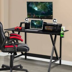 Professional Gaming Desk with Cup & Headphone Holder $194.99