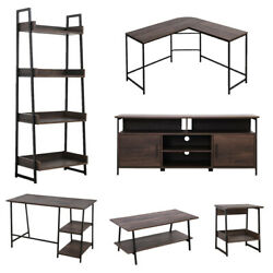Home Office Furniture Living Room TV Stand Coffee Table Wood Furniture Smoky Oak $119.99