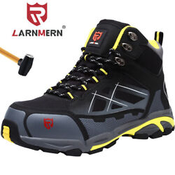 LARNMERN Steel Toe Work Safety Boots For Men Protective Industrial Shoes $48.89