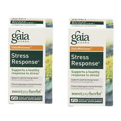 2X Gaia Stress Response Rhodiola amp; Ashwagandha 30 Caps Exp: 9 20 Sealed Lot Of 2 $13.64