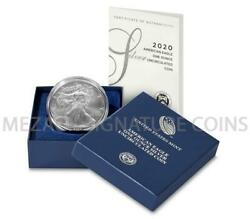 2020 W American Silver Eagle 1oz Burnished Uncirculated Coin OGPCOA in hand $79.95