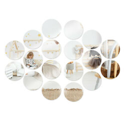 36x Removable 3D Mirror Wall Stickers Circle Decal Art Mural Home Room DIY Decor $22.79