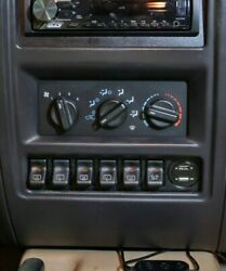 97-01 Jeep Cherokee XJ Switch Panel Fits 6 OEM Switches $29.95