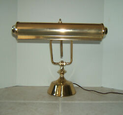 Vintage Brass Desk Lamp Student Banker Piano Adjustable ~ Double Bulb ~ Working $24.99