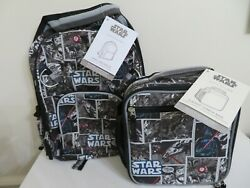 POTTERY BARN KIDS STAR WARS SMALL BACKPACK BOOK BAG amp; LUNCH BOX NEW 2 PIECE $69.99