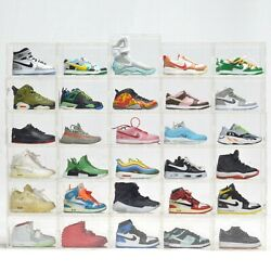 A PAIR Mini Sneaker Hypebeast Collection 1/6 Scale with display case USA Sellers $22.99