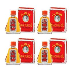 Siang Pure Red Oil Formula 1 Relieve Dizziness Pain Massage Insect Bite 4 x 3cc $16.50