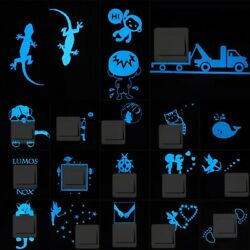 Stickers Luminous Switch Wall Kids Room Children Bedroom Decoration Accessories $5.17