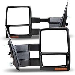 Fits 07-14 Ford F-150 Truck Side Tow Mirrors PAIR Powered Telescoping Texture $133.87