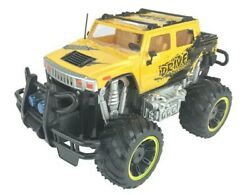 RC Hummer Truck Toy Remote Control 1:12 Scale Electric Vehicle Off Road Yellow $29.99