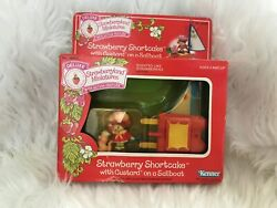 Strawberry Shortcake With Pet On A Sailboat Deluxe Vintage NRFB $55.00