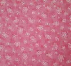 Butterfly BTY Fabric Traditions Little White Butterflies Tonal Pink Blender $7.99