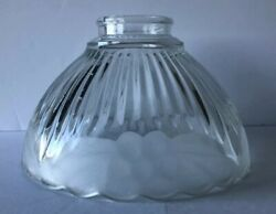 VINTAGE CLEAR GLASS SCONCE CHANDELIER REPLACEMENT SHADE WITH FROSTED FLOWERS $19.99
