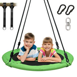 40quot;Green Tree Swing Round Swing Nest Swing 900D Oxford Waterproof 660Lbs for Kid $76.88
