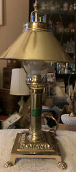 Paris Orient Express Istanbul Vintage Brass Claw Foot Desk Lamp Adjustable Shade $25.99