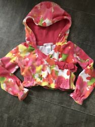 Janie amp; Jack Girls Size 2T Terry Cloth Beach Cover Up Hooded Top Floral $9.99
