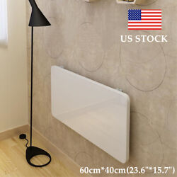 US STOCK White Wall Mount Floating Folding Computer Desk Home Office PC Table $79.92