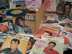 45 rpm vinyl records ALL ELVIS Presley YOU SELECT rare CLEANED & PLAYS VG+ NM- $6.99