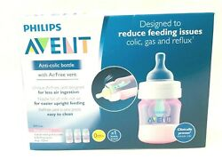 Philips Avent Anti-Colic Pink Edition Bottles W AirFree Vents 3- 4oz125ml- New $19.99