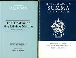 2 books on Summa Theologiae of Thomas Aquinas - Divine Nature + Gods WillProv $35.00