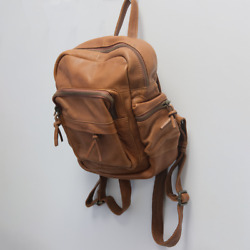 Fat Face Women#x27;s Multi Functional Brown Leather Rucksack Retail $140 $39.00