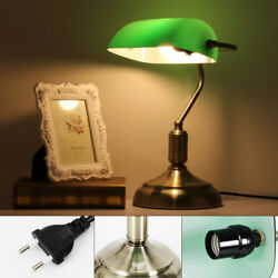 220V Nostalgic Retro Table Lamp Desk Lamp Library Light Green E27 Brand USA $50.04