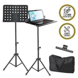 Foldable Music Stand Sheet Holder Adjustable Tripod Base Metal with Carry Bag $25.90