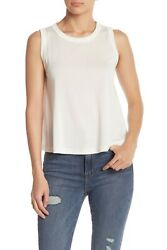 Nordstrom Abound White Swing Round Neck Muscle Tank Top $12.99