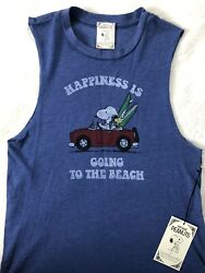 NEW Vintage Peanuts t shirt NWT Daydreamer Snoopy Happiness is Going Beach Large $19.00