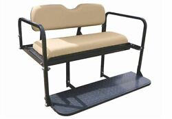 Rear Flip Seat kit-Buff for Club Car Precedent Golf Carts 2004+ $315.00