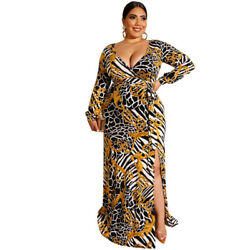 Women#x27;s fashion African print maxi plus size dress $35.00