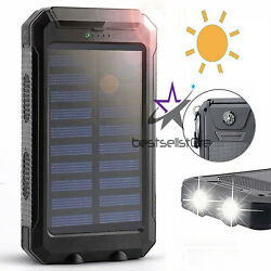 2020 Waterproof Solar Power Bank 2000000mAh Portable External Battery Charger US $16.88