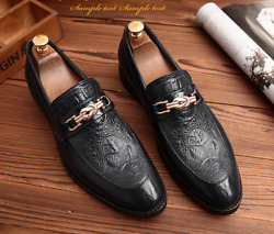 Mens Dress Shoes Pointy Toe Casual Leather Formal Wedding Business Loafers New $47.17