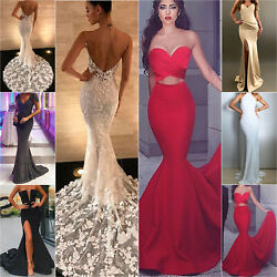 Women Ladies Maxi Dress Evening Party Cocktail Formal Prom Ball Gown Long Dress $15.86