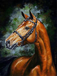 Army Horse Paint By Number Kits DIY Canvas Painting Home Wall Decor $12.99