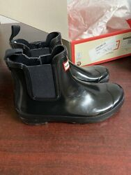Hunter Original Chelsea Boots Gloss Black Size 9 M  304  $14.50
