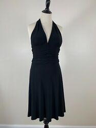 WHBM White House Black Market Classic Halter Little Black Dress XS $19.00
