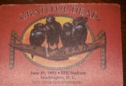 GRATEFUL DEAD BACKSTAGE PASS RFK STADIUM 06 25 1995
