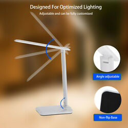 LED USB Charge Table Desk Lamp Wireless Phone Charger Reading Home Light $18.59