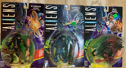 Lot 3 (three) ALIENS Kenner Action Figures (1992) MOC Bull Scorpion Gorilla $22.50