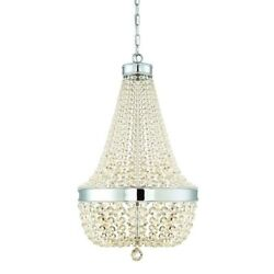 Home Decorators Monticello Ceiling 6-Light Chrome Crystal Chandelier Lighting $237.50