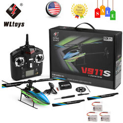 WLtoys V911S RC Helicopter For Beginners 2.4Ghz 4CH 6G 6 axis Aircraft Toys N1C7 $49.02