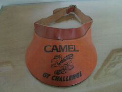 CAMEL CIGARETTES GT CHALLENGE EMBOSSED LEATHER VISOR
