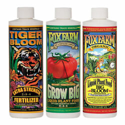 Fox Farm Soil Trio Nutrients Bundle Big Bloom Grow Big Tiger Bloom Pint 16oz $31.78