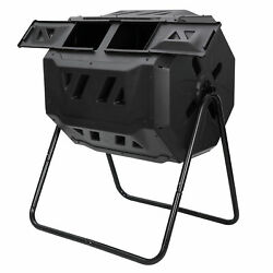 Composting Tumbler Dual Rotating Outdoor Yard Compost Bin High Quality $65.99